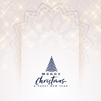 Beautiful merry christmas elegant sparkles banner design