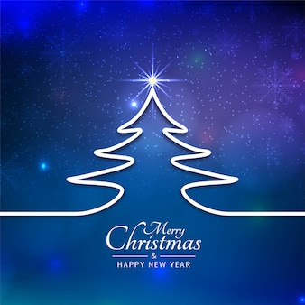 Beautiful merry christmas festival blue background
