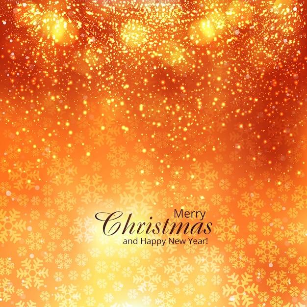 美しいメリークリスマスの輝きの背景 無料ベクター