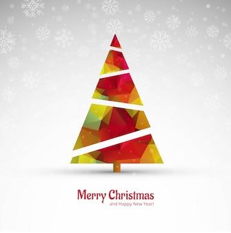 Красивая счастливая рождественская открытка