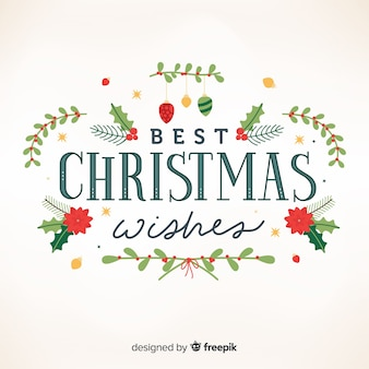 Beautiful merry christmas lettering