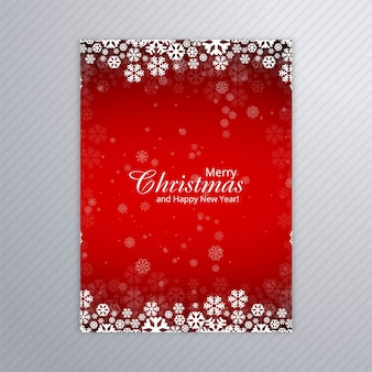 Beautiful merry christmas party poster