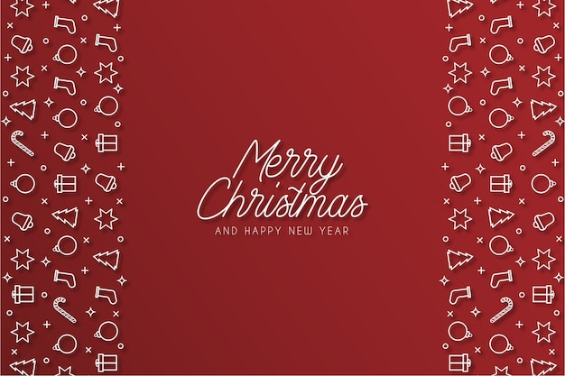Beautiful merry christmas red banner