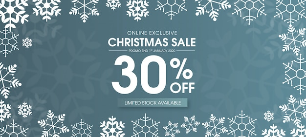 Beautiful merry christmas sale banner design