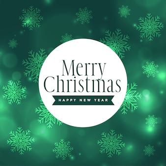 Beautiful merry christmas snowflakes shiny background