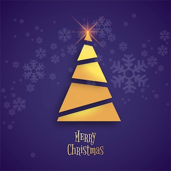 Beautiful merry christmas tree celebration background vector