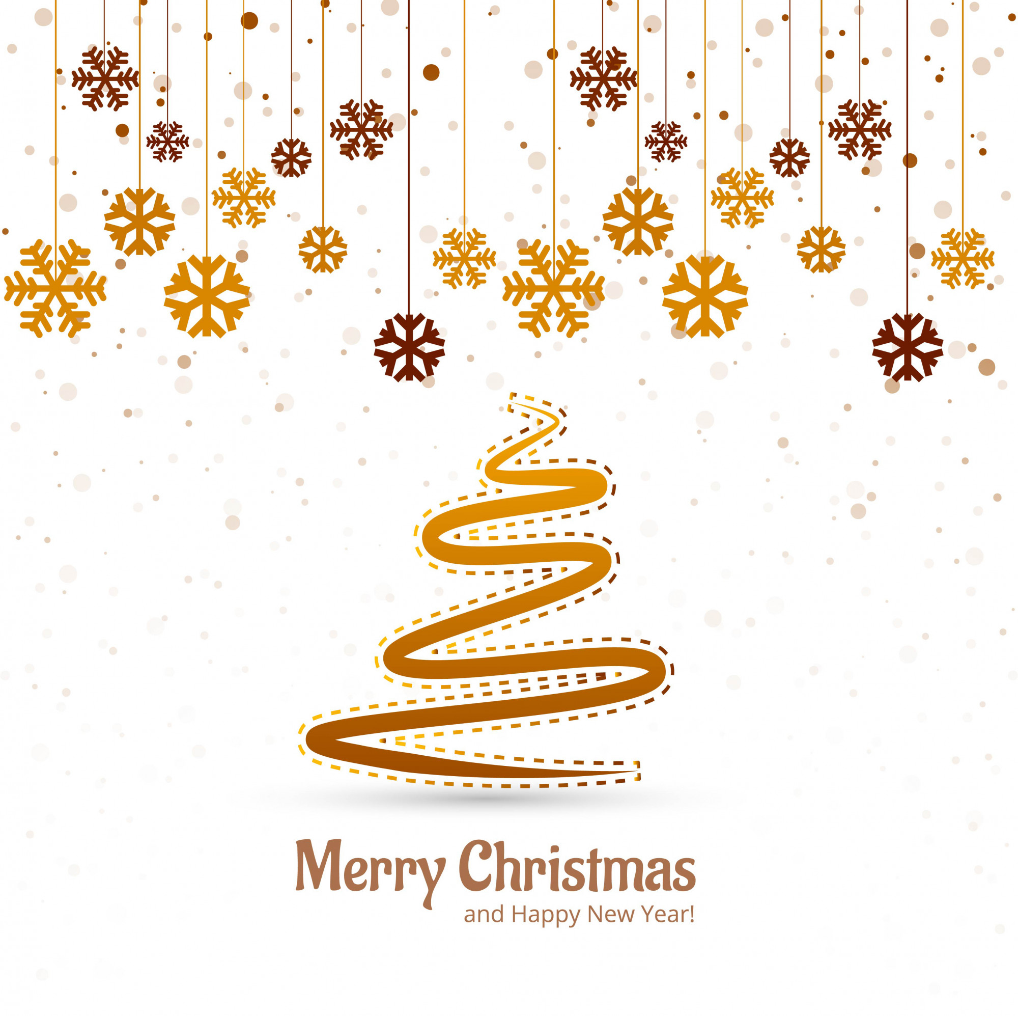 Beautiful merry christmas tree festival background vector