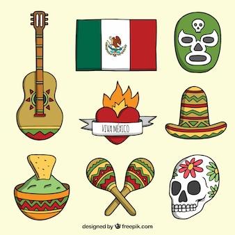 美しいメキシコの要素