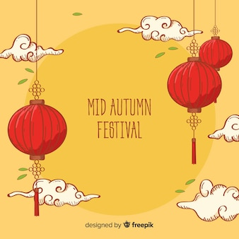 Beautiful mid autumn festival background concept