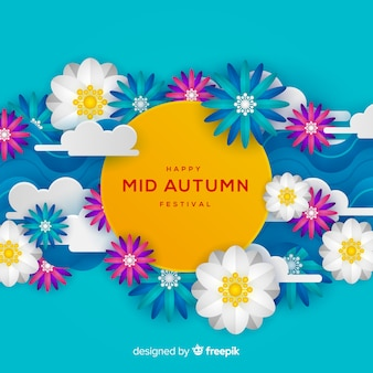 Beautiful mid autumn festival background design