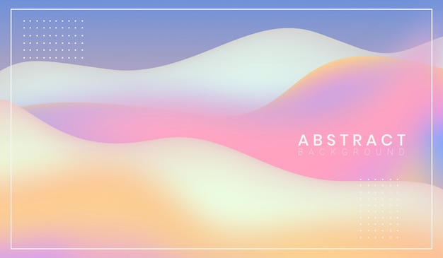 Beautiful modern abstract wavy shapes background