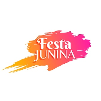 Beautiful modern festa junina design
