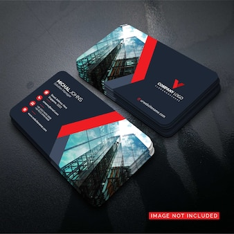 Beautiful modern red business card