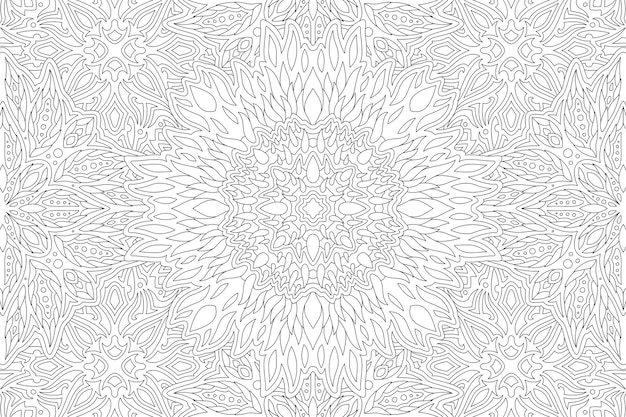 Beautiful monochrome linear. adult coloring book
