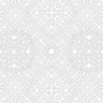 추상 상세한 동부 원활한 패턴으로 색칠하기 책에 대 한 아름 다운 흑백 선형 삽화