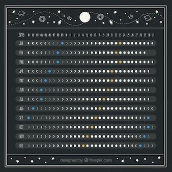 Красивый лунный календарь