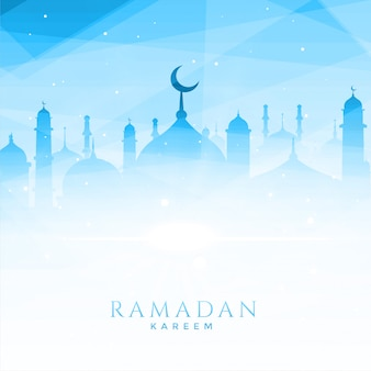 Beautiful mosque illustration for ramadan kareem