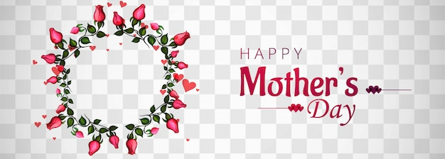 Beautiful mother's day background transparent