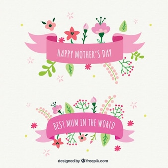 Beautiful mother's day ribbons