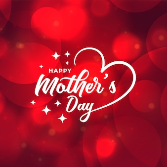 Beautiful mothers day red bokeh background design