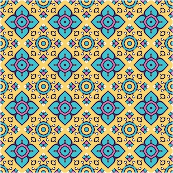 Beautiful motif pattern with ethnic style