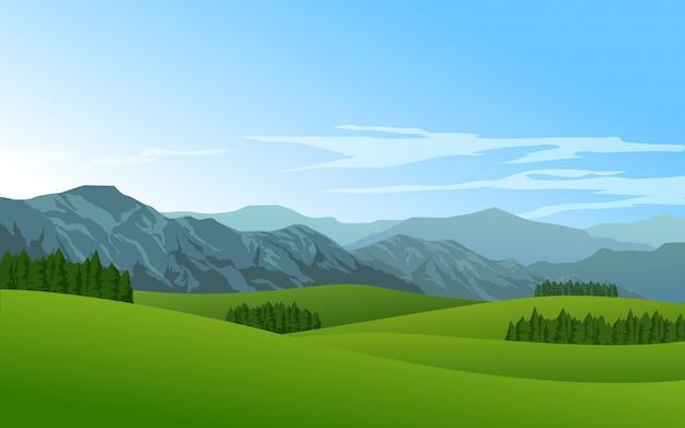 Beautiful mountain meadow landscape