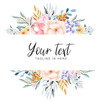 Beautiful multi-background floral frames