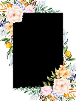 Beautiful multi-background flower and leaves frames