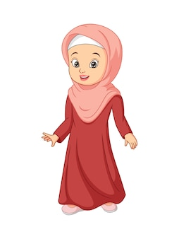 Beautiful muslim woman in hijab illustration