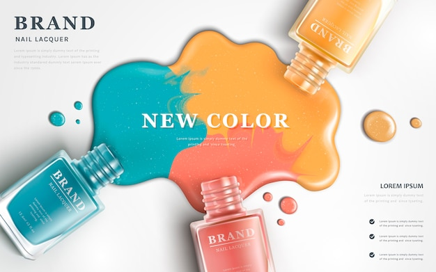 Beautiful nail lacquer ads