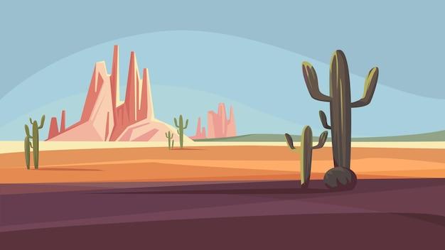 Beautiful natural scenery with arizona desert landscape