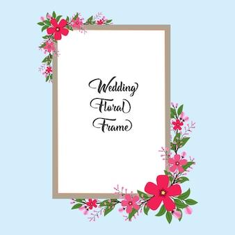 Beautiful natural wedding floral frame