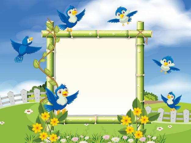 A beautiful nature and bird frame