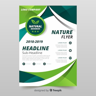 Beautiful nature flyer template