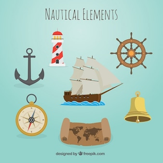 Beautiful nautical elements