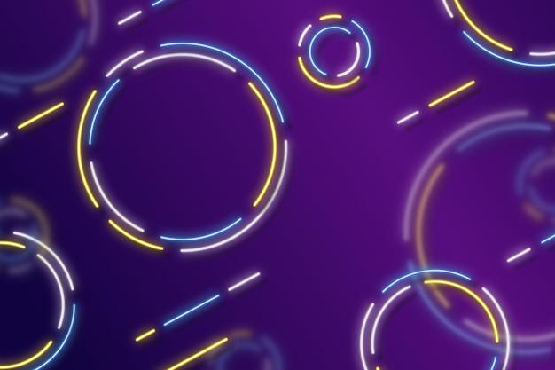 아름다운 네온 배경 디자인