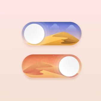 아름다운 뉴 모피 즘 토글 스위치 온 오프 버튼