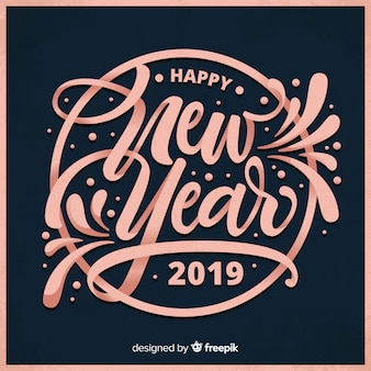 Beautiful new year 2019 lettering background