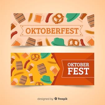 Beautiful oktoberfest banners