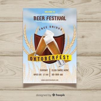 Beautiful oktoberfest poster template