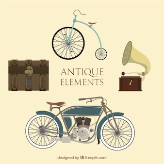 Beautiful old elements set