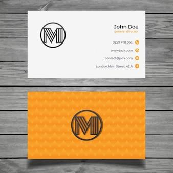 Beautiful orange business card