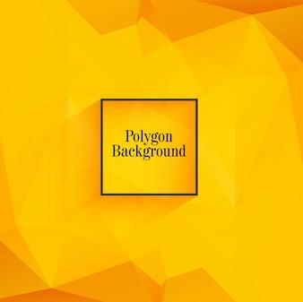 Beautiful orange polygon background vector
