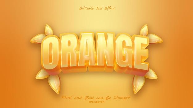 아름다운 오렌지 텍스트 효과