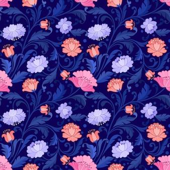 Красивый цветочный узор орнамента