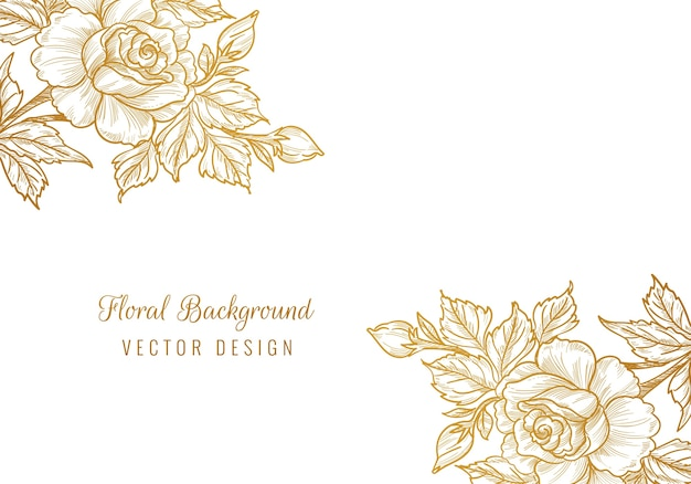 Beautiful ornamental decorative floral background