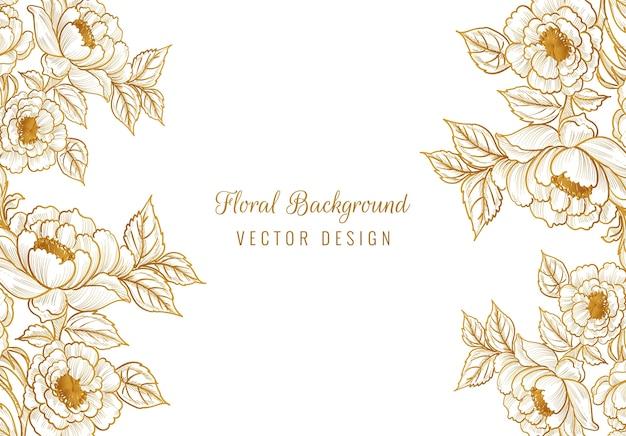 Beautiful ornamental decorative floral frame