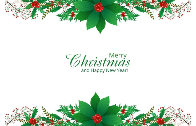 Beautiful ornaments christmas card background