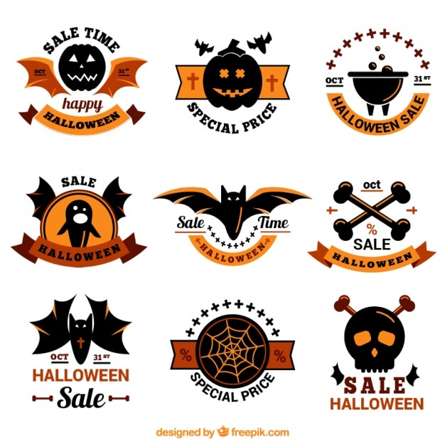Beautiful pack of halloween stickers with special offers
