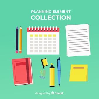 Bellissimo pacchetto di elementi di pianificazione